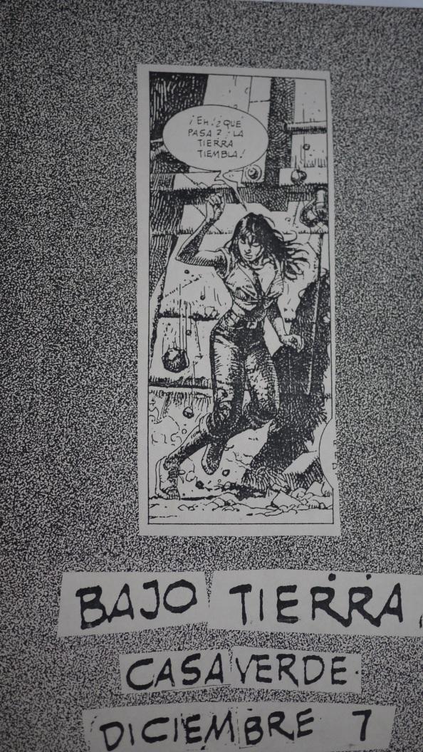 concierto de bajotierra en casaverde. afiche. diciembre 7